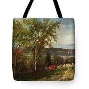 Hudson River At Croton Point Tote Bag