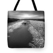 Hudson River In Winter Tote Bag