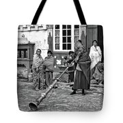Huff And Puff Bw Tote Bag