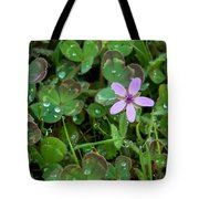 Huge Beauty In A Small Wildflower Tote Bag
