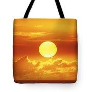 Huge Orange Sun Tote Bag