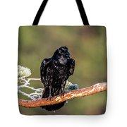 Huginn The Raven Tote Bag