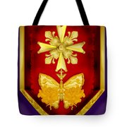Huguenot Cross And Shield Tote Bag by Anne Norskog