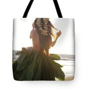 Hula At Sunrise Tote Bag