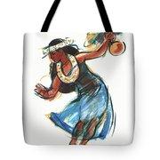 Hula Dancer With Uli Tote Bag