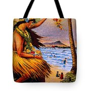 Hula Flower Girl 1915 Tote Bag