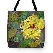 Hula Girl Hibiscus Tote Bag