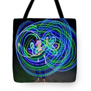 Hula Hoop In Light Tote Bag