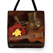 Hula Implements Tote Bag by Larry Geyrozaga