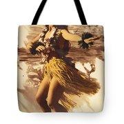Hula On The Beach Tote Bag