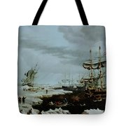 Hull Whalers In The Arctic  Tote Bag by Thomas A Binks