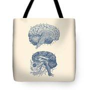 Human Brain - Central Nervous System - Vintage Anatomy Print Tote Bag
