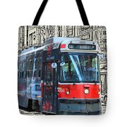 Humber Bound Streetcar On Queen Street Tote Bag