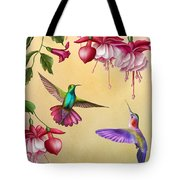 Humming Birds And Fuchsia-jp2784 Tote Bag