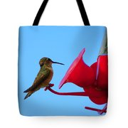 Humming In On The New Feed Sack Tote Bag