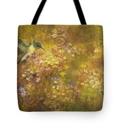 Hummingbird And Hydrangeas Tote Bag