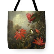 Hummingbird And Passionflowers Tote Bag