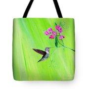 Hummingbird And Sweet Peas Tote Bag