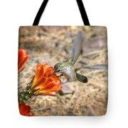 Hummingbird And The Hedgehog  Tote Bag