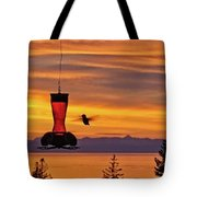 Hummingbird At Sunset. Tote Bag