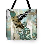Hummingbird Batik Tote Bag