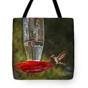 Hummingbird Coming For Dinner Tote Bag