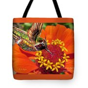 Hummingbird Delight Tote Bag