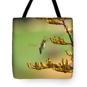 Hummingbird Drinking Nectar Tote Bag