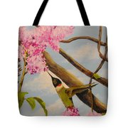 Hummingbird Feeding On Lilac Tote Bag