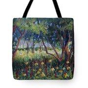 Hummingbird Gardens Tote Bag