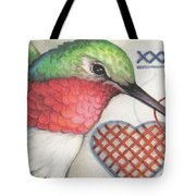 Hummingbird Handiwork Tote Bag
