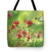 Hummingbird In Beebalm Tote Bag