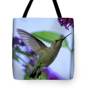 Hummingbird In Butterfly Bush Tote Bag
