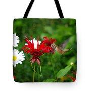 Hummingbird In Flowers Tote Bag
