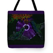 Hummingbird Morning Glory Tote Bag
