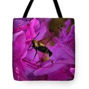 Hummingbird Moth On Azalea Tote Bag