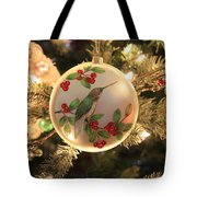 Hummingbird Ornament Tote Bag
