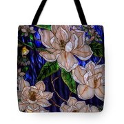 Hummingbird Stained Glass Tote Bag