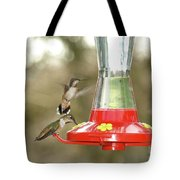 Hummingbird Trio Tote Bag
