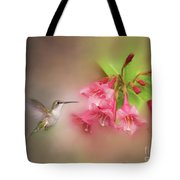 Hummingbird With Flowers Tote Bag