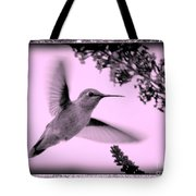 Hummingbird With Old-fashioned Frame 2  Tote Bag