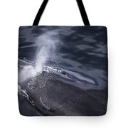 Humpback Whale Blowing Tote Bag