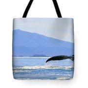 Humpback Whale Flukes Tote Bag