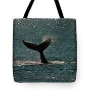 Humpback Whale Lifts Its Fluke. I Tote Bag