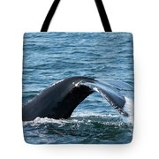 Humpback Whale Of A Tail Tote Bag