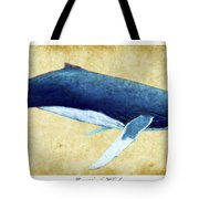 Humpback Whale Painting - Framed Tote Bag