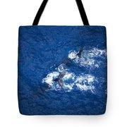 Humpback Whales Aerial Tote Bag