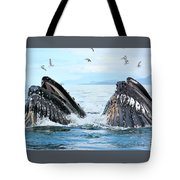 Humpback Whales In Juneau, Alaska Tote Bag