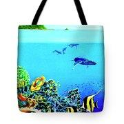 Humpback Whales, Reef Fish #252 Tote Bag