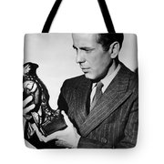 Humphrey Bogart Holding Falcon The Maltese Falcon 1941  Tote Bag